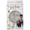 Harry Potter - Deathly Hallows Keyring and Pin Badge Set