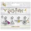 Harry Potter - Set 2 -Snitch/Deathly Hallows/Potion/Platform Charm Set Bracelet