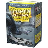 Dragon Shield - Standard Sleeves - Matte Silver 'Argentia' (100 Sleeves)
