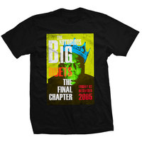 Biggie Smalls Final Chapter Men's Black T-Shirt (Medium) - Cover