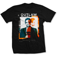 Johnny Cash Outlaw Photo Men's Black T-Shirt (Medium) - Cover
