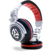 Numark Red Wave Over-Ear Professional DJ Headphones (Black and Silver)