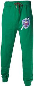 Legend of Zelda - Master Sword and Hylian Shield Men's Lounge Pants - Green (Medium) - Cover