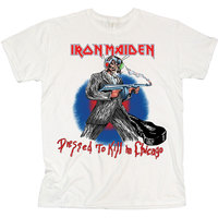 Iron Maiden Chicago Mutants Men's White T-Shirt (X-Large) - Cover