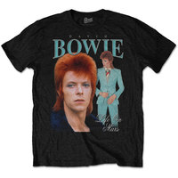 David Bowie - Life On Mars Homage Men's T-Shirt - Black (Medium) - Cover