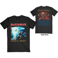 Iron Maiden - Two Minutes to Midnight Men's T-Shirt - Black (Medium) - Cover