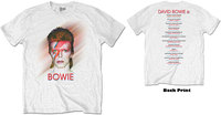 David Bowie - Bowie Is Men's T-Shirt - White (Medium) - Cover