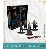 Harry Potter Miniatures Adventure Game - President Picquery & Aurors (Miniatures)