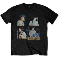 Beatles Shea Stadium Shots Men's Black T-Shirt (Small) - Cover