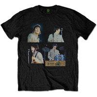 Beatles Shea Stadium Shots Men's Black T-Shirt (XX-Large) - Cover