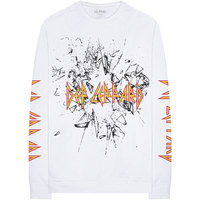 Def Leppard - Shatter Men's Long Sleeve Tee - White (Small) - Cover