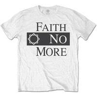 Faith No More - Classic Logo V2 Men's T-Shirt - White (Large)