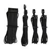 Corsair - Premium Individually Sleeved PSU Cables Starter Kit Type 4 Gen 4 - Black