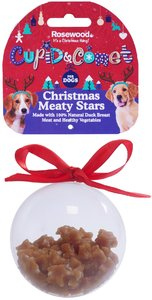 Rosewood - Christmas Meaty Star Treats Bauble Gift For Dogs (80g) - Cover