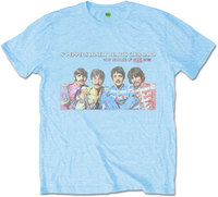 The Beatles - LP Here Now Men's T-Shirt - Blue (Large) - Cover
