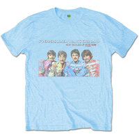 The Beatles - LP Here Now Men's T-Shirt - Blue (Small) - Cover