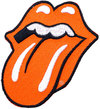 The Rolling Stones - Classic Tongue Standard Patch - Orange