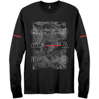 System of a Down - Eye Collage Men's Black Long Sleeve T-Shirt (Small) - Cover