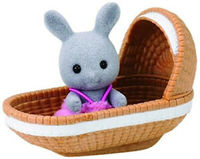 Sylvanian Families - Rabbit Baby With Crib (Playset) - Cover