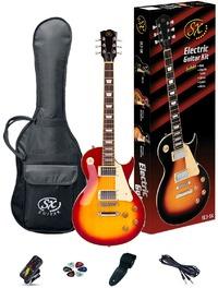 SX SE3-SK-CS Electric Guitar Les Paul Style Starter Pack (Cherry Sunburst) - Cover