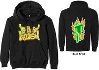 Billie Eilish - Airbrush Flames Blohsh Men's Hoodie - Black (Small) - Cover