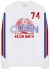 Queen - Killer Queen '74 Stripes Men's LongSleeve Shirt - White (Medium)
