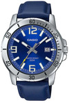 Casio Enticer Series Analog Mens Wrist Watch - Silver and Blue