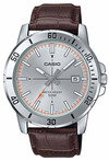 Casio Enticer Series Analog Mens Wrist Watch - Silver and Brown
