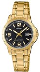 Casio Stainless Steel Womens Analog Wrist Watch - Gold and Black