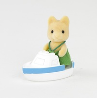 Sylvanian Families - Maple Dog Baby With Boat Eb (Playset) - Cover