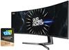 Samsung LC49RG90 49 Inch UltraWide Dual QHD QLED Curved Gaming Monitor - Black