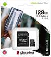 Kingston Canvas Select Plus 128GB MicroSDXC Class 10 UHS-I Memory Card - Black