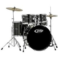 PDP Centerstage 5pc Acoustic Drum Kit with Hardware and Cymbals - Onyx Sparkle (10 12 16 14 22 Inch)