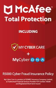 McAfee Total Protection for 5 Devices (PC Download) - Cover