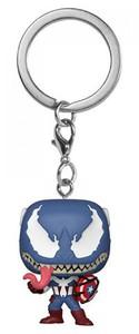 Funko Pop! Keychain - Marvel Venom - Captain America - Cover
