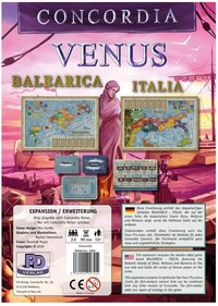 Concordia: Venus: Balearica/Italia - Expansion for Base-game (Board Game) - Cover