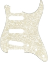 Fender 11-Hole Modern Style SSS Stratocaster Electric Guitar Pickguard (Aged White Moto)