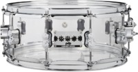 PDP Chad Smith Signature 6x14 Inch Acrylic Snare Drum (Transparent)
