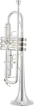 Jupiter JTR700RSQ 700 Series Bb Trumpet with Backpack Softcase (Silver-Plated)