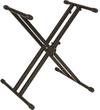 Quik Lok Professional Double Braced X Keyboard Stand (Black)