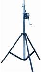 Quik Lok 4m Heavy Duty Crank-Up Lighting Stand (Black)