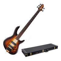 Cort C5 Plus ZBMH Artisan Series 5 String Active Bass Guitar with CrossRock Hard Case (Not in Original Box) - Cover