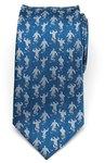 Aladdin - Genie Scattered Men's Silk Tie - Blue