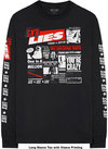 Guns N' Roses - Lies Cover Men's Long Sleeve T-Shirt - Black (Medium)