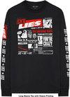 Guns N' Roses - Lies Cover Men's Long Sleeve T-Shirt - Black (X-Large)
