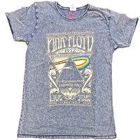 Pink Floyd - Carnegie Hall Bo Men's Denim T-Shirt (Medium) - Cover