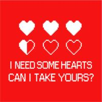 I Need Some Hearts Mens T-Shirt Red (X-Small)