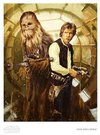 Star Wars - Han and Chewie  Paper Giclee Art Print by Christopher Clark
