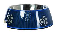 Rogz - Fancy Dress  Dog Bubble Bowl, Navy Paw (Large)