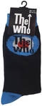 The Who - Target Black Sock UK Size 7-11 (Euro Sizes Approx Size 40-45)